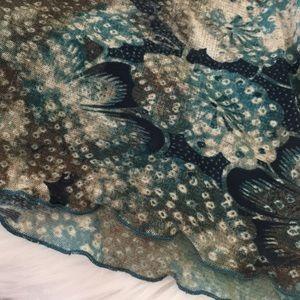 Tint Tops - TINT long sleeve top * Size XL * Green Blue